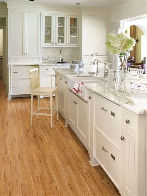kitchen with wood floors and white cabinets engineered bamboo floor country kitchens with white
