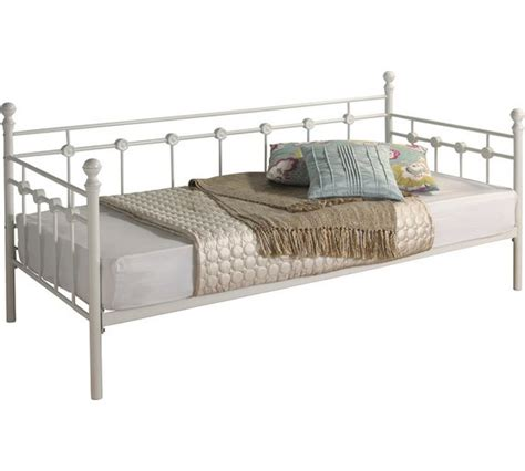 Metal Frame Daybed Buy Collection Abigail Single Metal Day Bed Frame White At Argos Co Uk Your Shop For