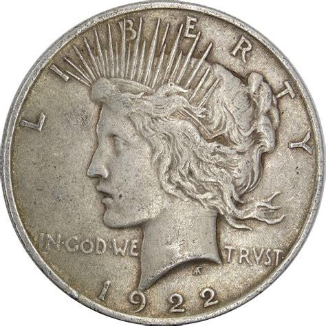 1 dollar silver coin 1922 gotocoinauctions a coinzip company 1922 silver peace dollar