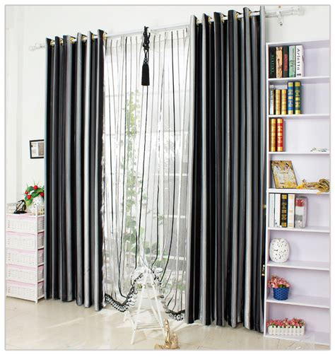 black and white vertical striped curtains aliexpress com buy black and white vertical stripe
