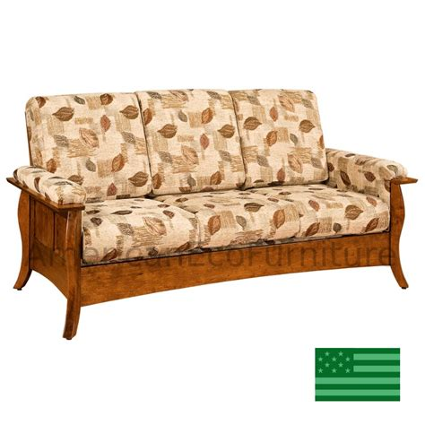 Amish Sorrento Sofa Solid Wood Made In Usa American