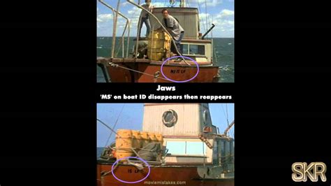 boat r mistakes movie mistakes jaws 1975 youtube