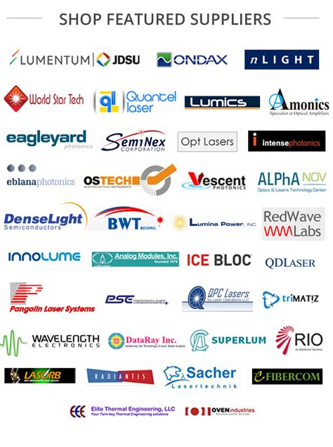 laser diode manufacturer all laser diode wavelengths brands one site comparison shopping