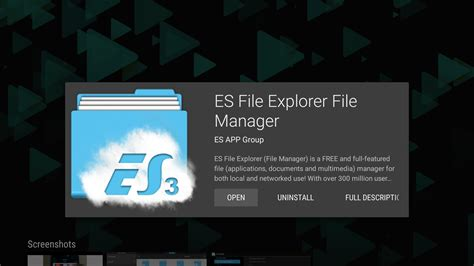 es file explorer apk install android phone s application to android tv