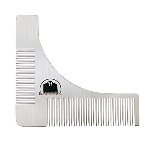 essentials beard shaping symmetric tool comb for shaving