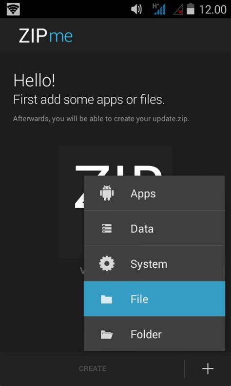 cara membuat flashable zip lewat android cara paling mudah membuat flashable zip menggunakan zipme