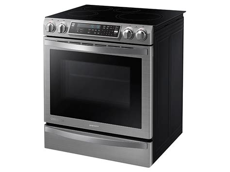 5 8 cu ft slide in induction chef collection range with flex duo oven ranges ne58h9970ws aa