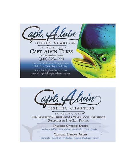 Charter Gift Card - capt alvin charters st thomas marine logos websites t shirts boat lettering