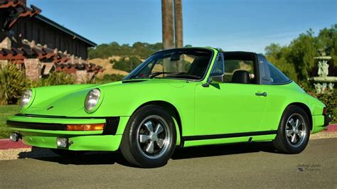 porsche 911 green 1974 porsche 911 targa lime green