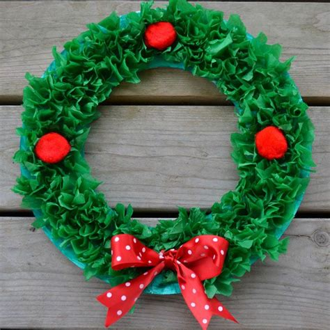How To Make A Tissue Paper Wreath - 1000 ideas about tissue paper wreaths on