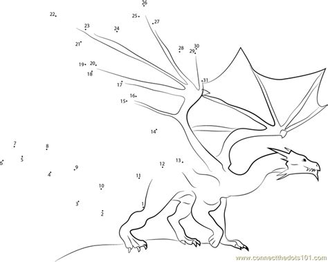 Dot To Dot Dragon Printables | fire blue dragon dot to dot printable worksheet connect