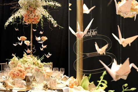 Origami Crane Centerpiece - 16 unique centerpiece ideas for your reception tables