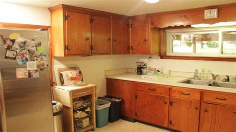 outdated kitchen cabinets surprise kitchen makeover plan knock it off the live