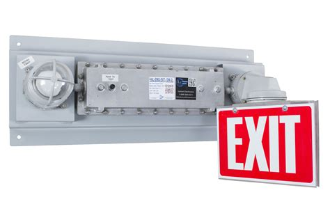 emergency exit lights with battery backup larson electronics releases hazardous location emergency