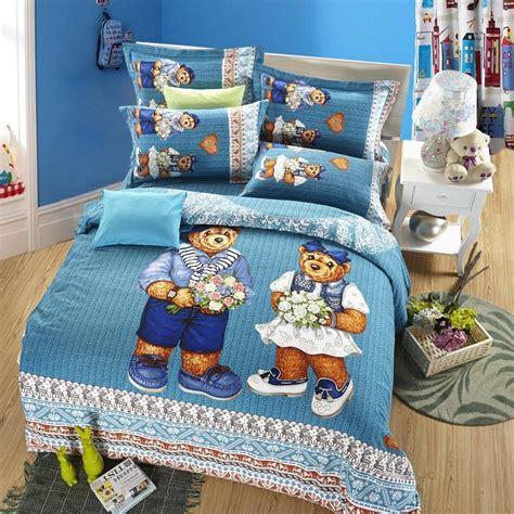 queen size childrens bedding cute teddy bear kids cartoon bedding set queen size