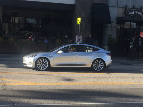 the spotted tesla model 3 spotted in the images