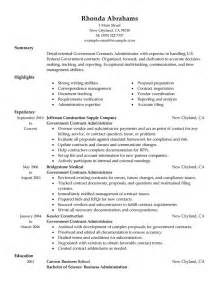 Exle Of Government Resume by Government Cv Images Frompo