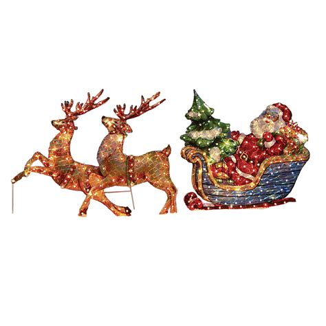 shop holiday living 2 6 ft sleigh lighted outdoor