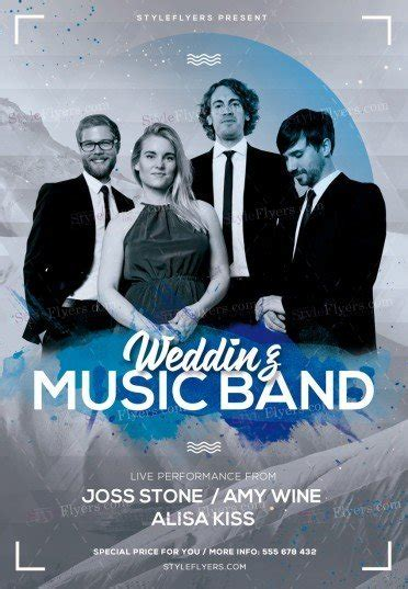 Wedding Music Band Psd Flyer Template 21259 Styleflyers Band Flyer Templates Photoshop