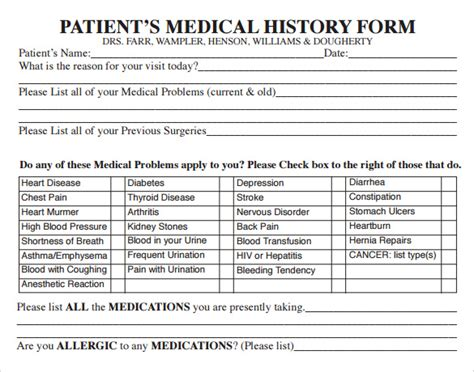 medical practice survey form is used by the patients to rate their