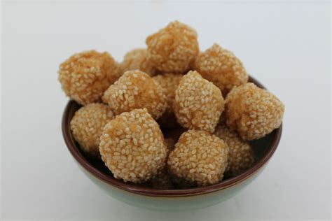 new year sesame cookies treats for lunar new year feast best if shared the dish