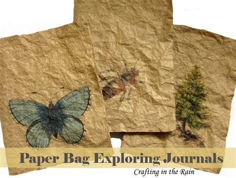 How To Make A Journal Out Of Paper - paper bag exploring journals honeybear