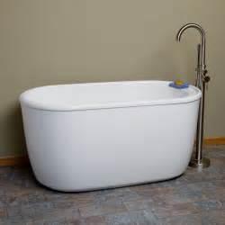 bathtubs soaking 55 quot vada acrylic soaking tub freestanding tubs