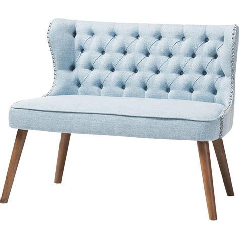 light blue tufted sofa 3 upholstered nailhead sofa set button