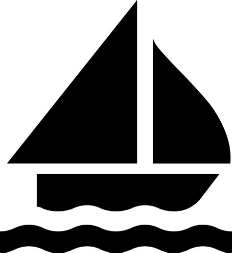 small boat icon sailing boat silhouette svg png icon free download 8791