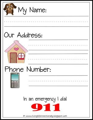 free learn my name address printables