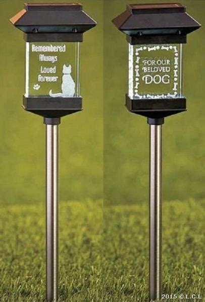 Solar Lighted Crystal Pet Memorial Stake Light Select Cat Memorial Solar Lights