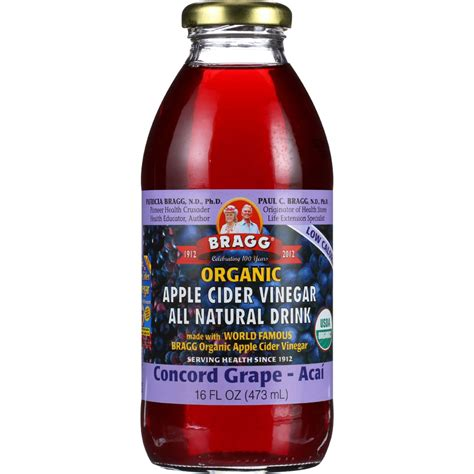 Tfa Grape 16oz bragg apple cider vinegar drink organic concord grape acai 16 oz of 12 yumza