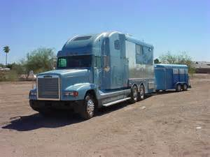 big rig with a really neat cer sleeper trailer photo