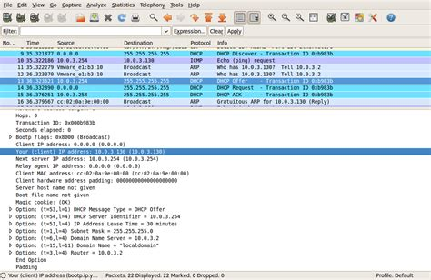 for dhcp bala s four stages of dhcp capture by wireshark