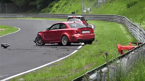 bmw 1 series m coupe crashes at n 252 rburgring