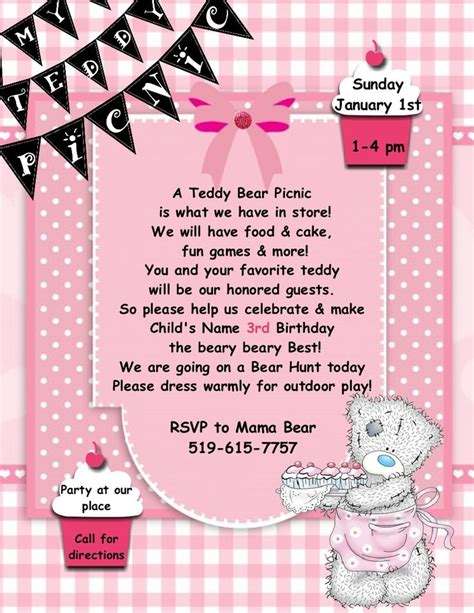 teddy picnic invitation template 1000 ideas about picnic invitations on picnic