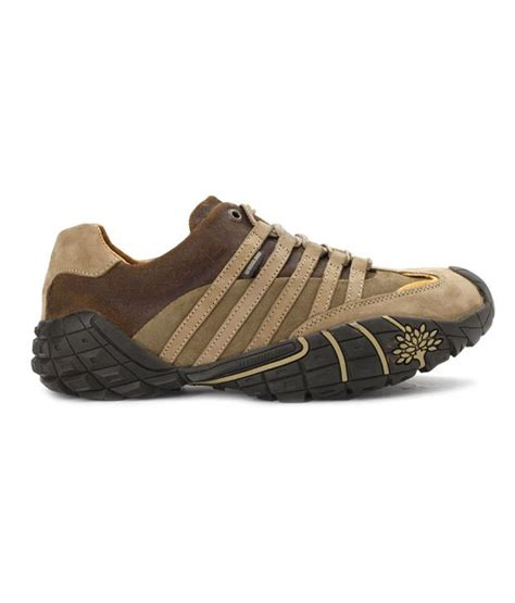 buy woodland dynamic khaki brown outdoor casual shoes for