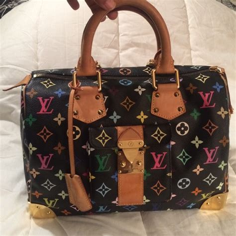 Bag Louis Vuitton Spedi Mix Cristal Set 2 In One Series 1 49 louis vuitton handbags louis vuitton bag 30 speedy black multicolored bag from