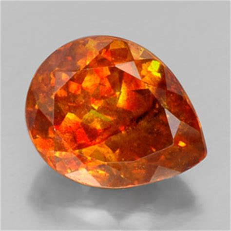 sphalerite 19 7ct pear from mexico and untreated