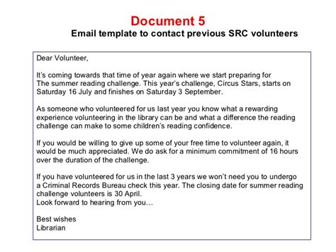 volunteer email template study on working with volunteers at chippenham