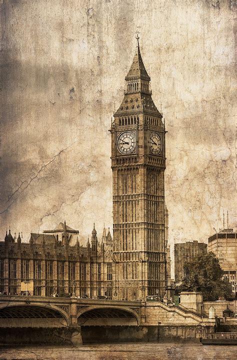 Habitaciones Color Gris #4: Cuadro-torre-del-reloj-big-ben-londres-n07.jpg