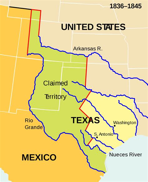 map of texas new mexico anexi 243 n de texas a los estados unidos de am 233 rica la enciclopedia libre