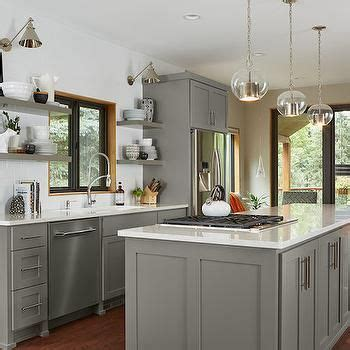 gray kitchen cabinets transitional kitchen benjamin gray floating shelf transitional kitchen benjamin moore