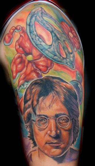 john lennon tattoo powerline tattoos evan olin lennon from