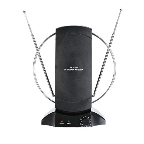 digital signal indoor tv antenna vhf uhf fm radio lifier ebay
