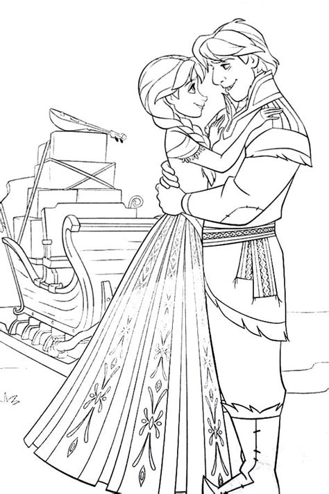 frozen coloring pages anna and kristoff family princess anna and kristoff from frozen coloring pages