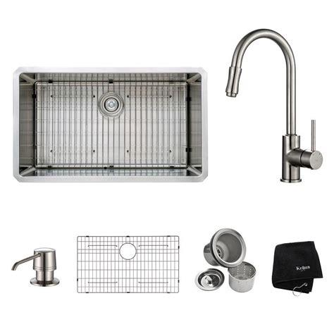 32 kitchen sink kraus 32 inch undermount single bowl stainless steel