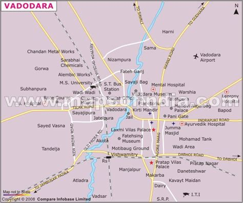 baroda map vadodara location map where is vadodara