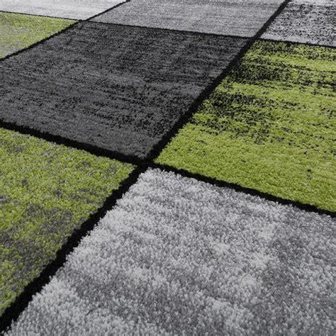 teppich kariert teppich wohnzimmer modern kariert meliert grau schwarz
