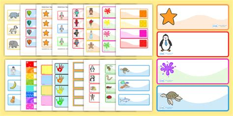 card template eyfs drawer peg name labels variety pack
